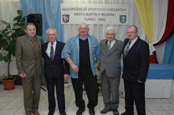 Čestné uznanie za celoživotný prínos pre šport získali Milan Hoferica, Milan Nemček, Ladislav Jesenský, Blažej Rumann.