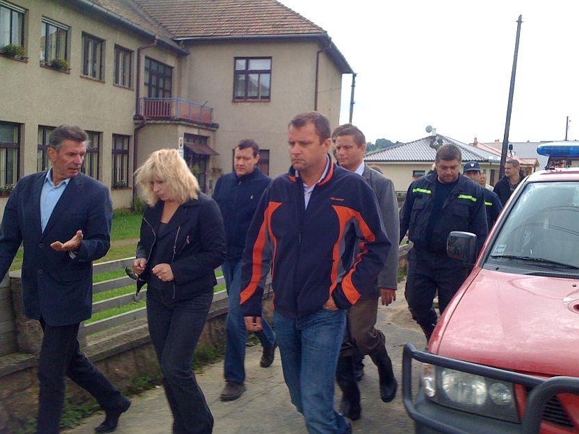 Premiérka počas návštevy navštívila aj zaplavenú Sklabiňu.