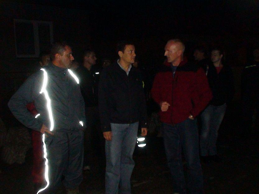 V utorok po polnoci primátor Hrnčiar sprevádzal postihnutými oblasťami ministra vnútra Lipšica.